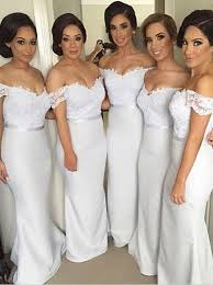 bridesmaid dress buy gorgeous shoulder sleeves ivory mermaid floor length