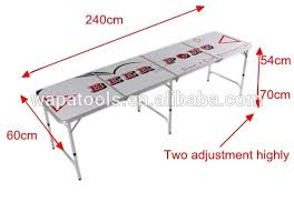 beer pong table size cm 8ft aluminum folding beer pong table view beer pong table wapa