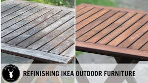 Ikea Outdoor Table by Refinishing Ikea Outdoor Furniture Youtube