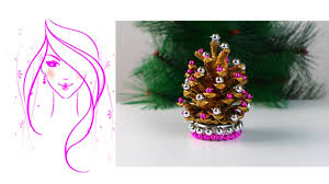 morena diy how to make pine cone christmas trees youtube