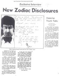 sf chronicle aug 3 1978 letter fake zodiackiller com
