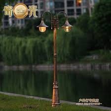 europe vintage garden outdoor lights fixture e27 led pole light
