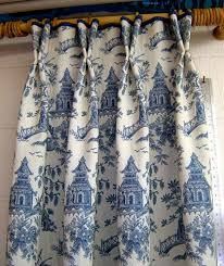 Blue Toile Curtains Toile Blue Curtains Exceptional Blue Toile Drapes 4