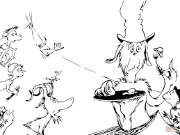 Dr Seuss Coloring Pages Green Eggs And Ham Inside Page Eson Me