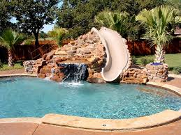 decorating enjoyable outdoor swimming pool with interesting pool