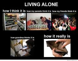Alone Memes - living alone how i think it is weknowmemes