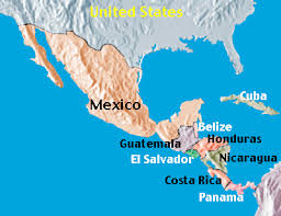 map of america with country names central america and mexico maps names