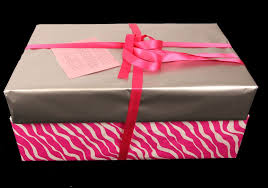 pink gift wrap gift wrapping idea for pink zebra silver