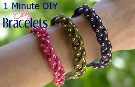 1 minute diy crafts diy easy to make bracelets kidpep