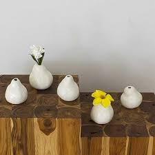 vases white pear shape ceramic home decor accent pieces thai decor