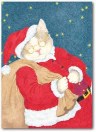 bottman cards santa claws boxed cat christmas cards by bottman christmas