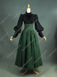 Titanic Halloween Costumes Victorian Gothic Green Dress Steampunk Cosplay Witch
