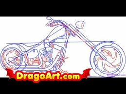 how to draw a motorcycle step by step youtube