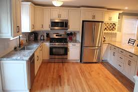 Kitchen Cabinet Surfaces Light Oak Cabinets With Dark Wood Flooring Awesome Smart Home Design
