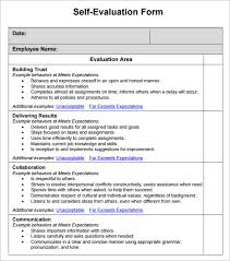 sample employee self evaluation form 14 free documents in word pdf