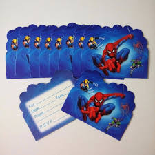 Free Spiderman Invitation Cards Online Buy Wholesale Invitation Card Kids Birthday From China