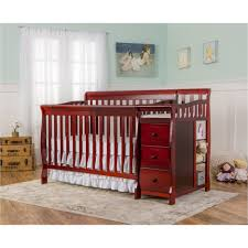 baby cribs ba crib with attached changing table brook collection