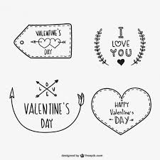 valentines day ornaments vector free vector in ai