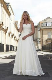 starpless ivory a line floor length chiffon elegant wedding dress