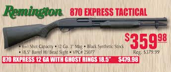 turners black friday remington 870 express tactical 12 ga 18 5