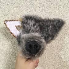 halloween dog mask a challenge to make a wolf mask for halloween earlrabbit u0027s blog