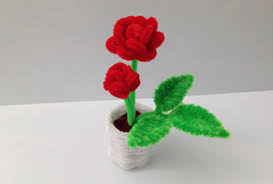 how to make a pipe cleaner rose pot 1 the rose youtube