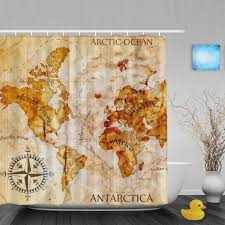 Shower Curtain Map Treasure Map Shower Curtain U2022 Shower Curtain
