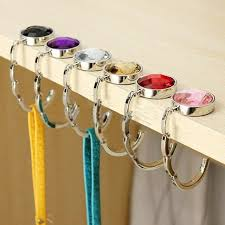 purse hook for table portable folding handbag hook table desk hanging clip holder multi