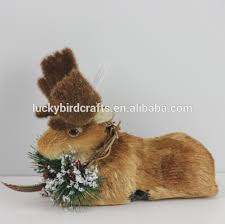 Christmas Deer Head Decorations by Christmas Deer Head Decoration Stag Made From Natural Material