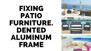 How To Fix Wicker Patio Furniture - fixing a wicker patio chair with bent aluminum frame youtube