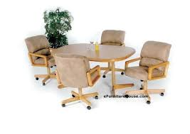 Dining Chair  Rolling Chairs Dining Set Rolling Swivel Dining - Dining room chairs with rollers