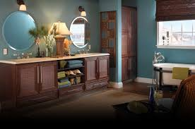 Blue And Yellow Bathroom Ideas Furniture Fascinating Bertch Cabinets With White Color And Vanity