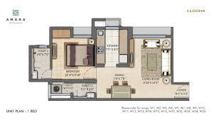 Floor Plan Furniture Clipart Master Plan Floor Plan U0026 Unit Plan 1 2 U0026 3 Bhk Flats At Lodha