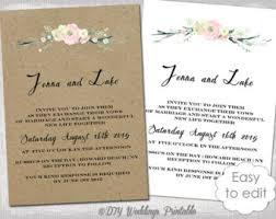 rustic wedding invitation templates printable wedding invitations template rustic leaf