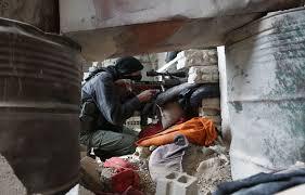 Rebel Syrian Flag Syria Regime Forces Ready To Blitz Rebel Enclave Near Damascus