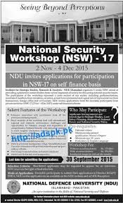 Ndu Attestation Letter how to apply ndu national security workshop nsw 17 applications