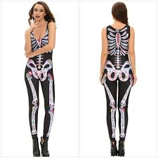 Skeleton Woman Halloween Costume Long Skeleton Halloween Costume Long Sleeve Dress Hallow