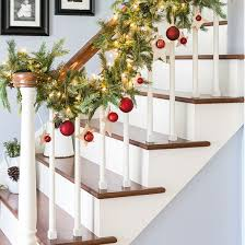 Banister Christmas Garland Stair Railing Garland Staircase Gallery