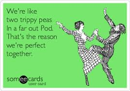 Two Peas In A Pod Meme - we re like two trippy peas in a far out pod that s the reason we re