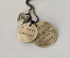 quote for daughter by father loss of dad necklace daughter and dad quote angel wings