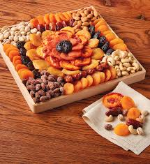 fruit and nut gift baskets dried fruit and nut tray snacks party food harry david