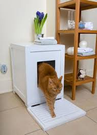 Kitty Litter Bench How To Reduce Tracking In Cat Litter Box Furniture Home