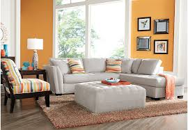 Rooms To Go Living Room Furniture by Cindy Crawford Home Calvin Heights Platinum 3 Pc Sectional Living