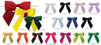 pre bows pretied satin bows with wire twist us box corp