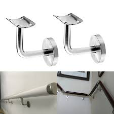 Stainless Steel Handrails For Stairs Pair Of Stainless Steel Handrail Stair Wall Brackets Support Hand