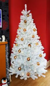 8ft pre lit iridescent pine tree with warm white lights