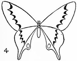 coloring page easy draw butterfly drawing drawings in pencil