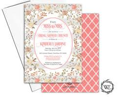 wedding shower brunch invitations bridal shower brunch etsy