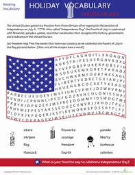 independence day word search worksheet education com