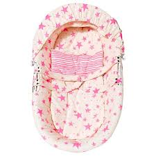 noe zoe noe zoe baby bassinet neon pink advice from a caterpillar